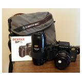 Pentax SF1 35 MM Tokina Lenses QTY 2 Includes Manual And Carrying Case