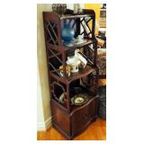 """Solid Wood Curio Cabinet With Storage 48"""" x 16"""" x 12"""""""