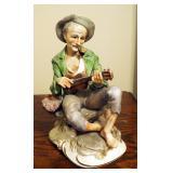 Lowell Davis The Politician Statue Figurine Schmid wolf politics, And Norleans Ceramic Guitarist