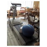 Lifestyler Electric Treadmill With Reebok 55cm Stay Balls Qty 2, Powers On
