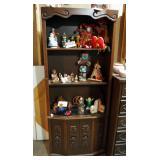 """Mid Century Mediterranean 2-Piece Bookcase With Adjustable Shelf And Storage Cabinet 72"""" x 30"""" x 13"""""""