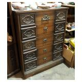 """Mid Century 5-Drawer Chest Of Drawers 45.5"""" x 36"""" x 18"""""""