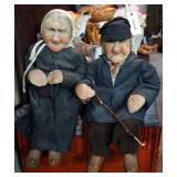 Vintage Handmade Pantyhose Dolls, Qty 2