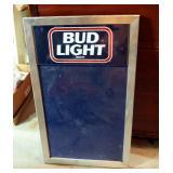 "Metal Framed Bud Light Advertisement Board, 29"" x 17.25"""