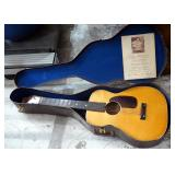 Airline 6-String Acoustic Guitar Including Case And Additional Strings