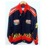 Chase Authentics Nascar Jacket With Embroidered Emblems, Size XL, Never Worn