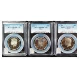 Kennedy Half Dollars, 1979-S, 2001-S, 2004-S, BU, PR69DCAM, All Slabbed By PCGS