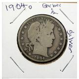 Barber Silver Half Dollars, 1904-O And 1906-O