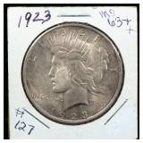 1934 Peace Dollar, Some Gold Toning