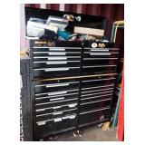 2-Piece Stackable Metal Tools Chest, 9 Drawer Top Piece, 14 Drawer Bottom Piece, On Wheels