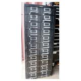 Datacase 11-Drawer Metal Tool Cabinet, Each Drawer With 2 Sections