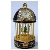 "Elgin Birdcage Clock, 3.5"" High"
