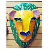 "Gina Truex ""Kindred Spirits"" Paper-mache Art Masks Of Lion And Fox"