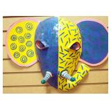 "Gina Truex ""Kindred Spirits"" Paper-mache Art Masks Of Elephant And Zebra"