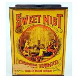 "Scotten Dillon Company Sweet Mist Chewing Tobacco Tin 10.5"" High x 8"" Wide x 6.5"" Deep"