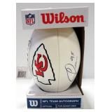 Chris Jones #95 Kansas City Chiefs Autographed NFL/Wilson Football With COA Sticker
