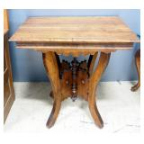 "Antique Side Table, 29"" High x 30"" Wide 21.5"" Deep, Split In Top"