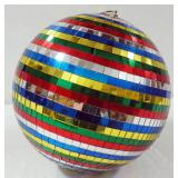 "Disco Ball With Multi Colored Squares, 12"" Dia"