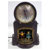 Mastercrafters Electric Mantle Clocks, Qty 3 Includes No. 20 Merry Go Round, Fireplace, And Children