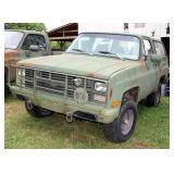 1984 Chevrolet D10 1/4 Ton 4x4 Military Blazer Multipurpose Vehicle (MPV), VIN # 1G8ED18J7EF110720