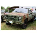 1986 Chevrolet D30 4x4 Military Postal Unit Pickup Truck, VIN # 1GCHD34J3GF355554