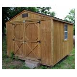 Backyard Portable Building With Double Doors & 3 Windows, Approximately 9