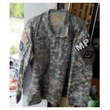 Universal Camouflage Pattern Fatigue Blouses Size Medium (Qty 2), And Trousers Size 34 Regular (Qty