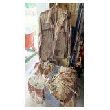 Military Desert Woodland Camouflage Fatigue Blouses, Sizes Small To Medium (Qty 10), And Trousers Si