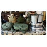 Military Canteens QTY 10, Mess Kits QTY 2