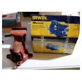 """Craftsman 3.5"""" Bench Vice Model Number 506.61801 And Irwin 4.5"""" Bench Vice New In Box"""