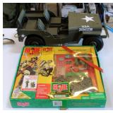 Toy Army Jeep, And GI Joe 40TH Anniversary Action Figure With Accessories
