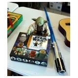 Star Wars Crochet Kit, Battery Powered Yoda, Lightsaber, And Fleece Throw