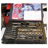 Craftsman 39 Piece Tap And Die Set, Stanley Black Chrome Socket Set, And Tekton Impact Socket Set