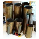 Brass Mortar Shell Collectibles Qty 9, And More