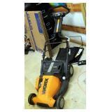 Worx Power Tank Battery Powered Mower - Includes Battery, Charger, And Grass Collection Bag