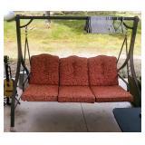"Freestanding Yard Swing, 64"" x 76"" x 53"", Cushions Included"