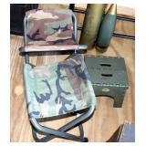 Collapsible Military Field Stools, Qty 3