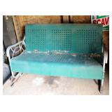 """Vintage Metal Porch Glider, 32"""" x 58"""" x 32"""""""