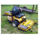 "Walker Gas Powered Riding Lawn Mower With 48"" Deck & Hydraulic Dump Bed, Model MTGHS, 20 HP, In Work"