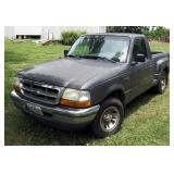 1998 Ford Ranger Pickup Truck, VIN # 1FTYR10U6WPA32825, Miles Showing On Odometer 267,910