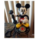 Segan Product Disney Mickey Mouse Telephone, In Working Order And Disney Glass Mugs