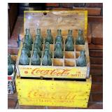 "Vintage Coca Cola Bottling Company Wood Bottle Crate With Lid, 11"" x 19.5"" x 12"", And Wood Bottle Tr"