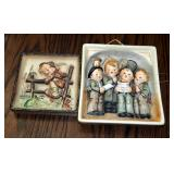 "Vintage Goebel Hummel Plaques, Number 126 ""Retreat To Safety"" (5"" x 5"") And Number 134 ""Quartet"" (6."