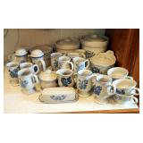 Pfaltzgraff Yorktowne 34-Piece Collection Including Canisters, Coffee & Tea Cups, Creamer, Sugar, Sa