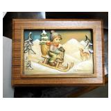 "Goebel M.J. Hummel First Edition The Four Seasons Series ""Ride Into Christmas"" Storage Box And Secon"