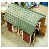 "Handcrafted Miniature Wood Barn With Working Barn Doors, 24"" x 32"" x 22"""