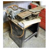 Vintage Wards Power Kraft Joiner Model 74FD2501 On Craftsman Stand, .5 HP Howell Motor,