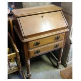 "Solid Wood 2-Drawer Secretary, 37"" x 24"" x 16"""