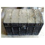 Antique Camel-back Storage Trunk