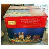 "Holiday Living 100"" 3D Locomotive With Train Cars, In Original Box"